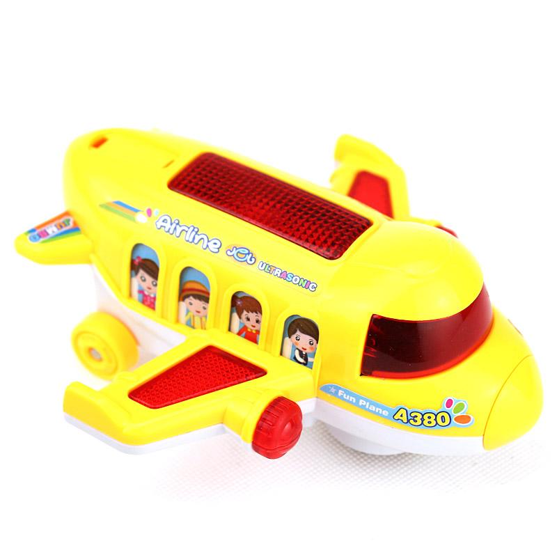 。宝宝电动玩具小飞机1-3岁 儿童玩具飞机会动有灯光音乐电动客机
