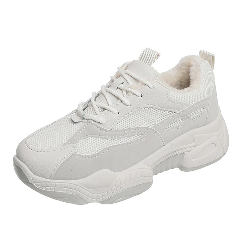网红懒人小白鞋夏季薄款女2020新款百搭厚底松糕单鞋透气网面板鞋