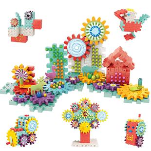 拼装益智玩具大块大颗粒蘑菇钉积木