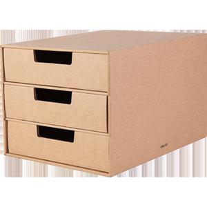 得力三层桌面文件柜抽屉式展示柜