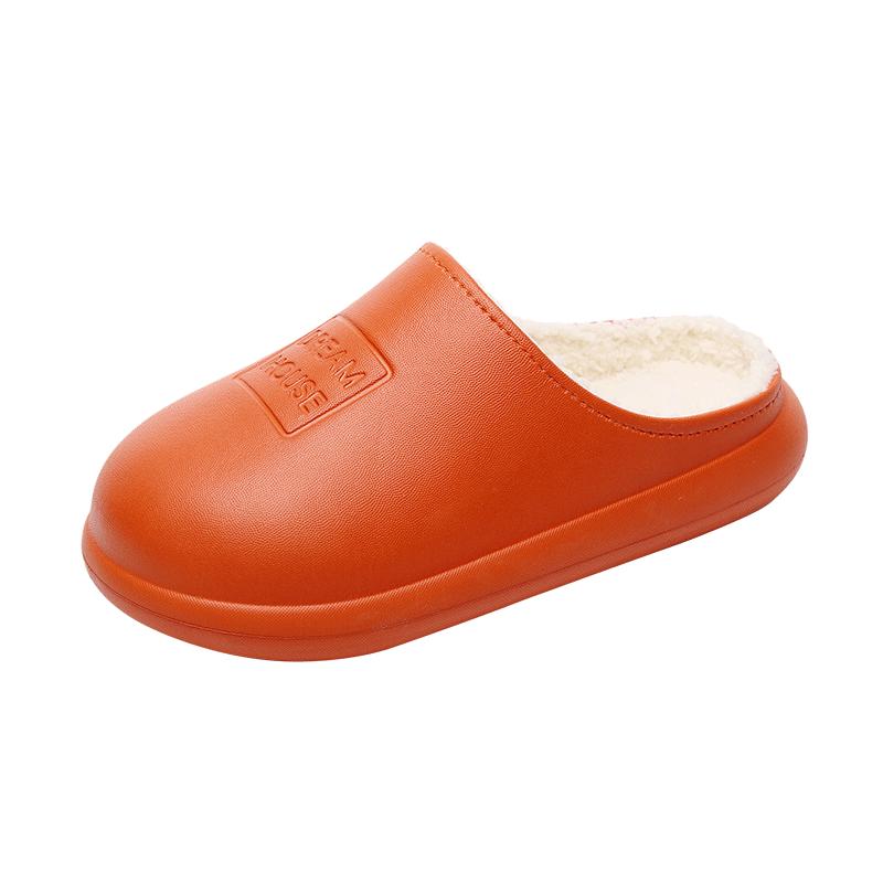 秋冬季棉拖鞋女可外穿时尚包头懒人厚底室内防滑防水情侣男泡沫底