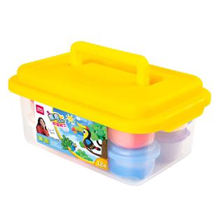 得力輕型粘土24色超輕粘土無毒兒童幼兒園手工泥diy太空泥男孩女孩超清超級輕質黏土盒裝36色彩泥工具套裝