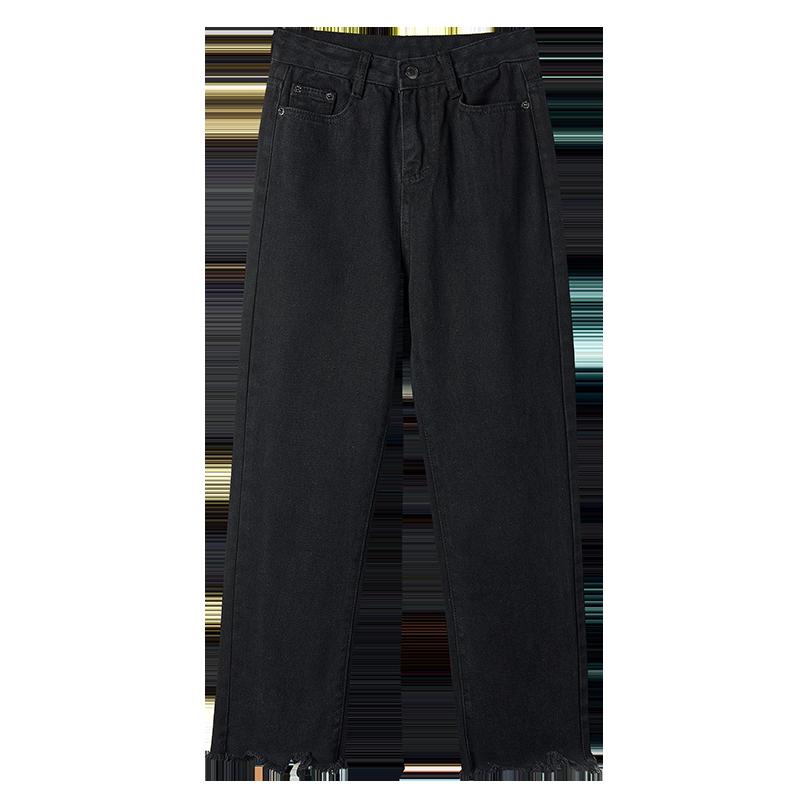 【百人验货】黑色显瘦阔腿裤潮