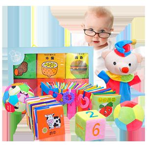 立体尾巴布书早教婴儿撕不烂可咬启蒙书3-6-8-12个月宝宝益智玩具