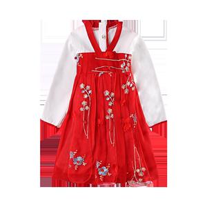 汉服小女孩超仙夏季儿童古风连衣裙