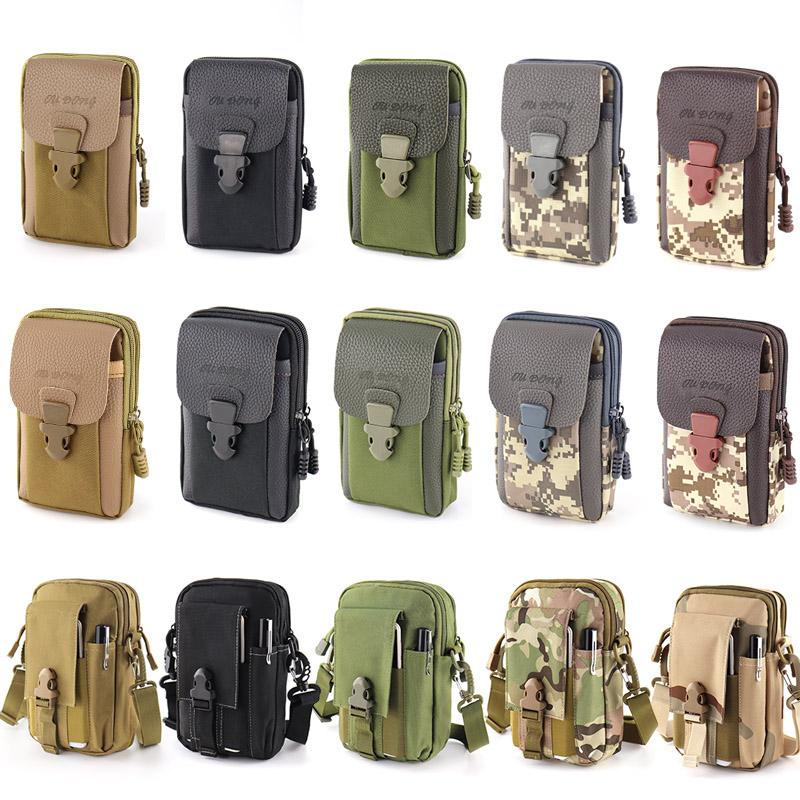 7寸手机包男穿皮带帆布多功能5寸6寸户外防水耐磨腰挂包战术腰包