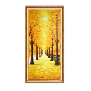 满地黄金大道立体手绘客厅装饰画