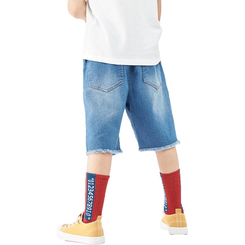 玛吉卡儿童男童裤子牛仔裤2019夏季新品短裤韩版洋气童装五分裤潮