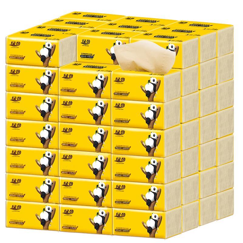 【綠勁】本色竹漿抽紙整箱40包