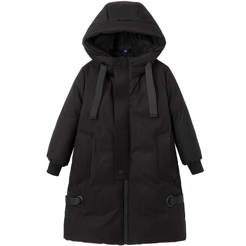 盈湖儿童卫衣假两件新品羽绒服男女大童加厚中长款冬装外套韩版潮
