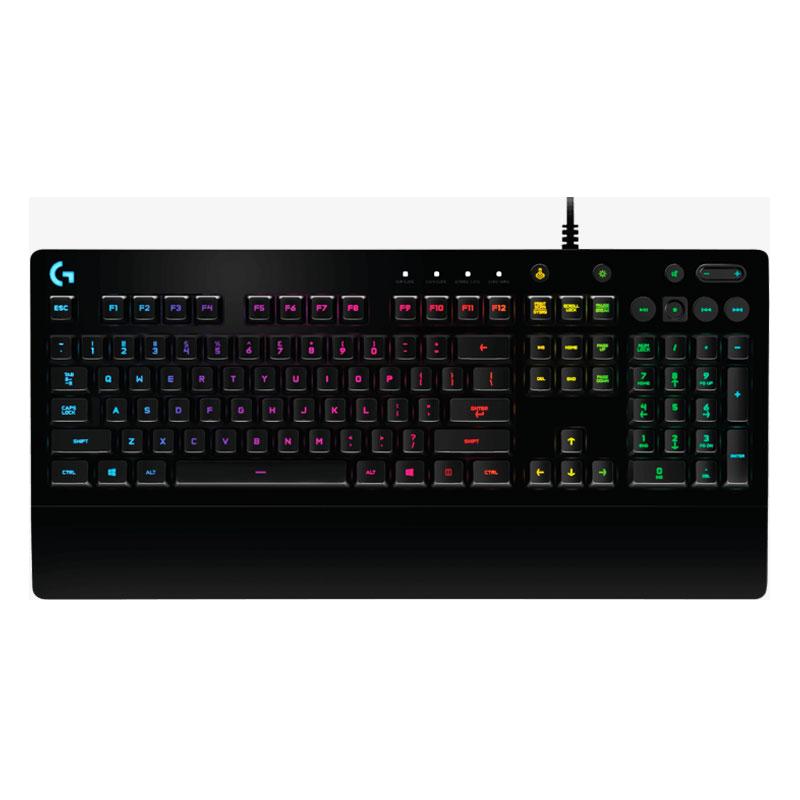 罗技G213 RGB背光游戏键盘电竞游戏有线键盘机械手感吃鸡键盘