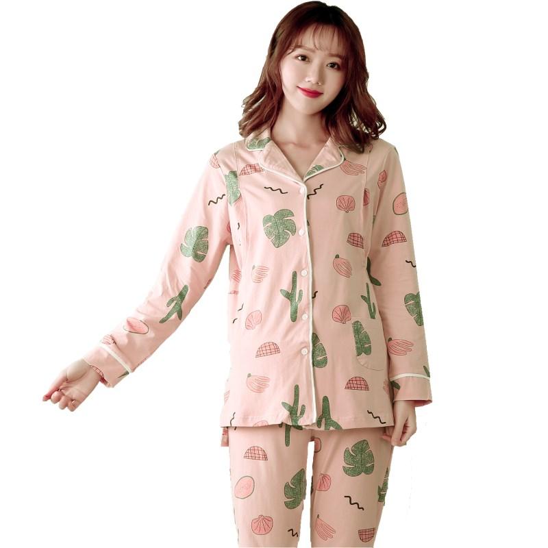 怀泰妈咪2020春夏月子服产前产后两件套孕妇睡衣哺乳衣套装891347