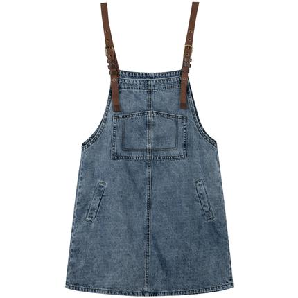 牛仔秋季2019新款夏减龄显瘦背带裙