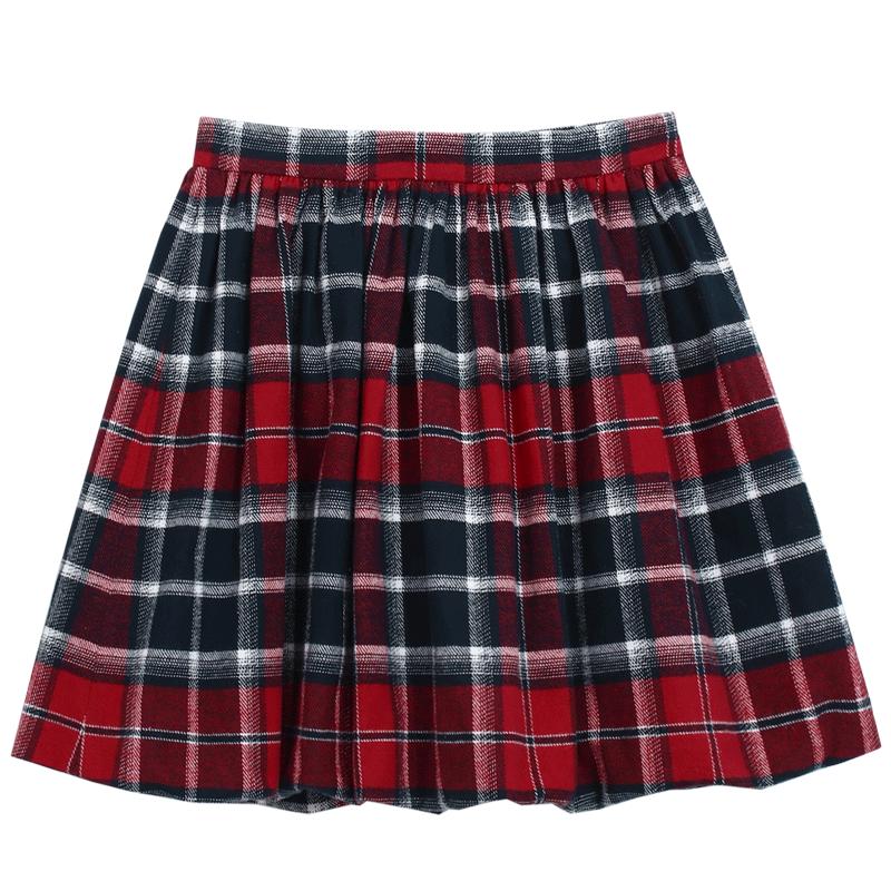 韩都衣舍IU同款高腰格子半身裙