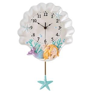 儿童房田园卡通小公主客厅创意钟表