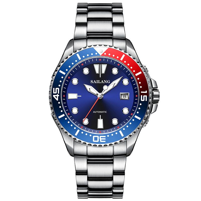 【赛浪】潜水表夜光瑞士手表机械表