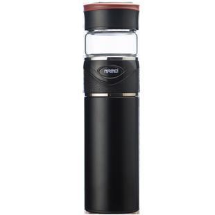 恩尔美茶水分离保温杯男 高档316不锈钢便携定制玻璃泡茶杯水杯子