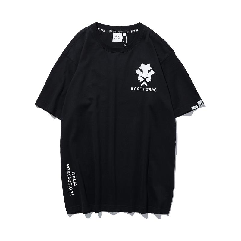 费雷男装纯棉休闲圆领t恤衫