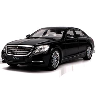 威利1:24奔馳S系S500汽車模型豪華轎車合金仿真車模擺件男生禮物