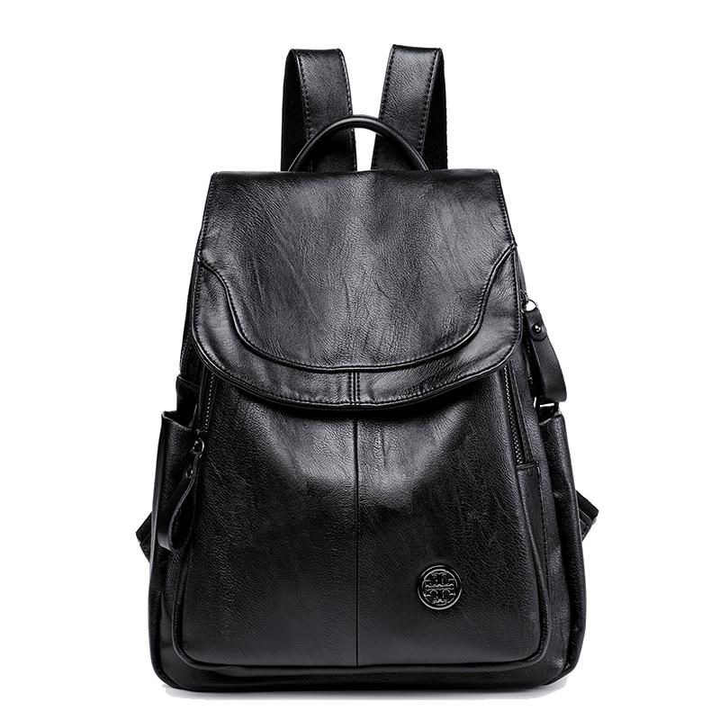 香港MICHONG真皮双肩包女士2020新款韩版背包休闲旅行大容量书包