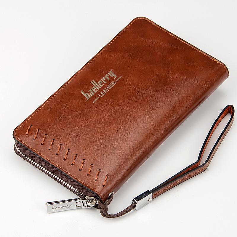 baellerry 新款多卡位手机包拉链手拿包商务时尚手抓包长款钱包男