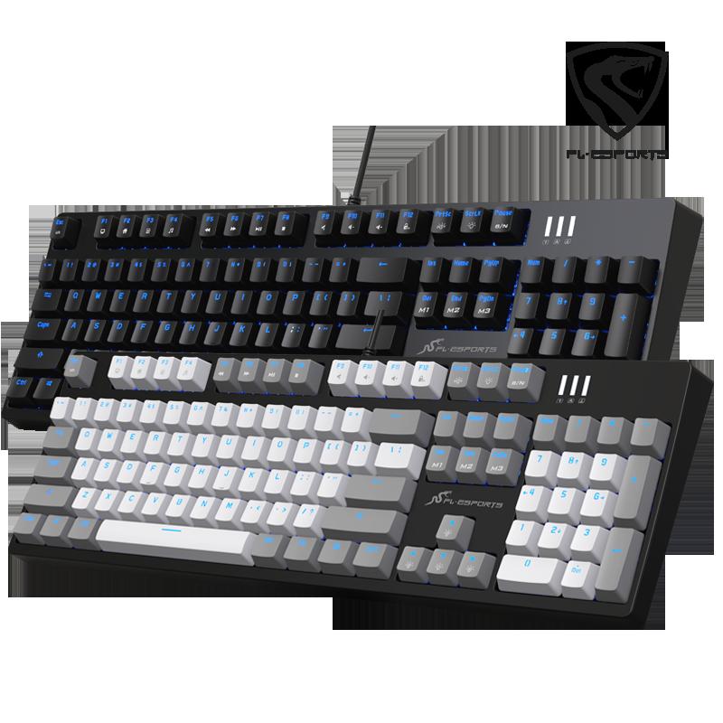 腹灵MKa104s北美版机械键盘 黑轴茶轴青轴红轴 USB有线游戏笔记本