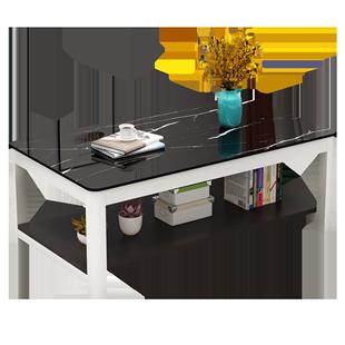 圓角辦公茶几玻璃面鋼化玻璃客廳花幾電視櫃組合小户型家用茶几桌