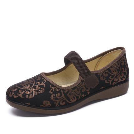老北京平底中老年妈妈鞋大码布鞋