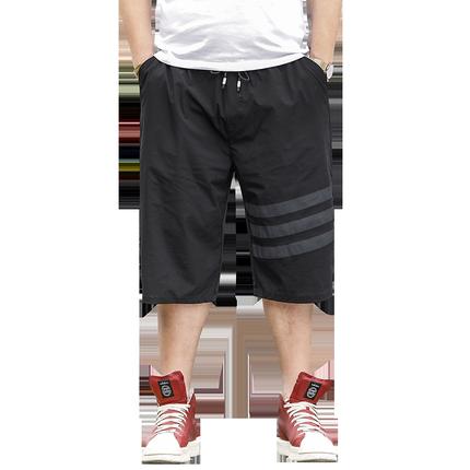 夏季冰丝胖子七分休闲男宽松短裤