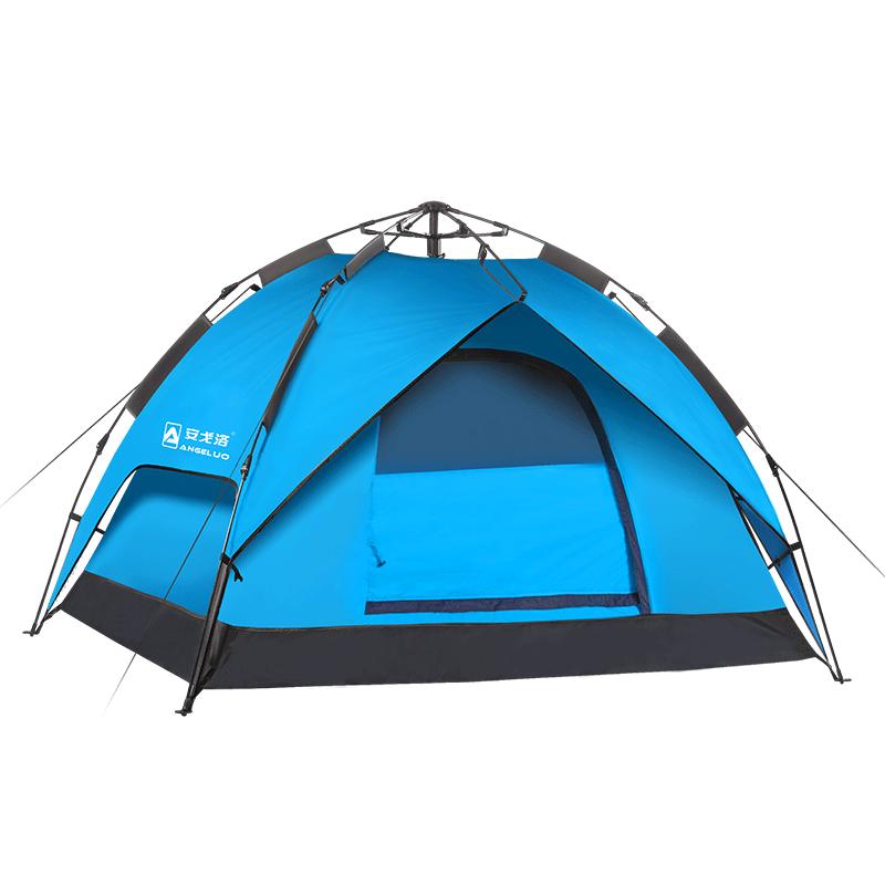 德国安戈洛帐篷户外2人双人3-4人防雨野营装备登山全自动速开帐篷