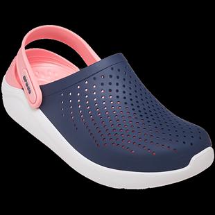 Crocs男洞洞鞋LiteRide休閒平底沙灘鞋卡駱馳女涼拖鞋|204592