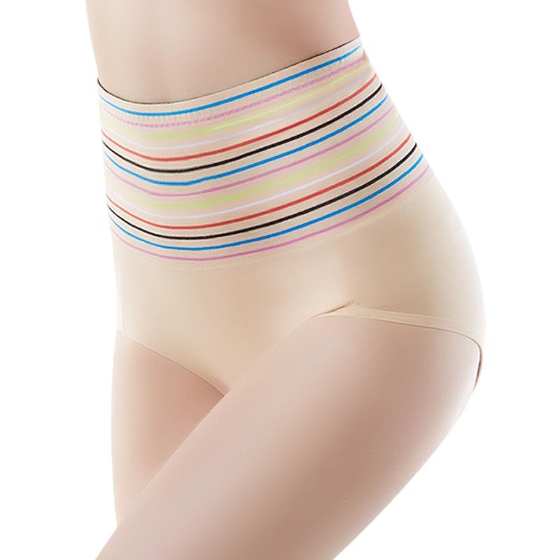 3条 高腰收腹裤女棉质双层塑形束腰提臀塑身美体暖宫女士收腹内裤