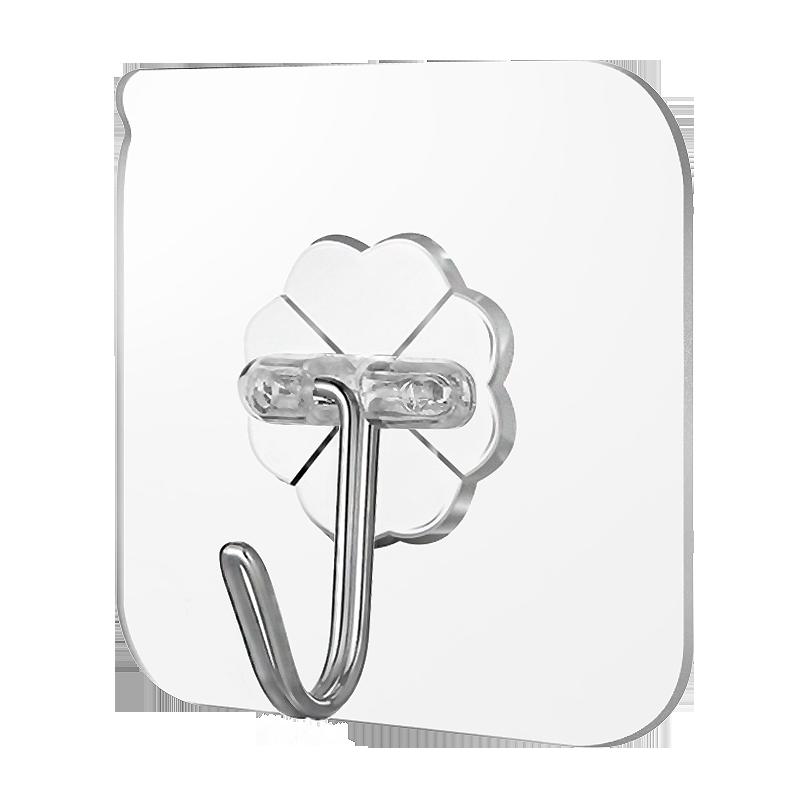 挂钩强力粘胶贴墙壁门后挂钩免打孔厨房浴室吸盘承重挂钩无痕粘钩