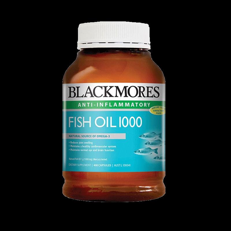 澳洲Blackmores澳佳宝深海鱼油400粒omega3鱼肝油软胶囊中老年