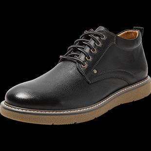 百麗工裝男鞋冬商場同款牛皮加絨皮鞋B3H59DD9