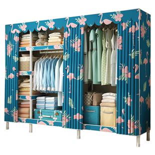 简易收纳免安装折叠卧室布艺布衣柜