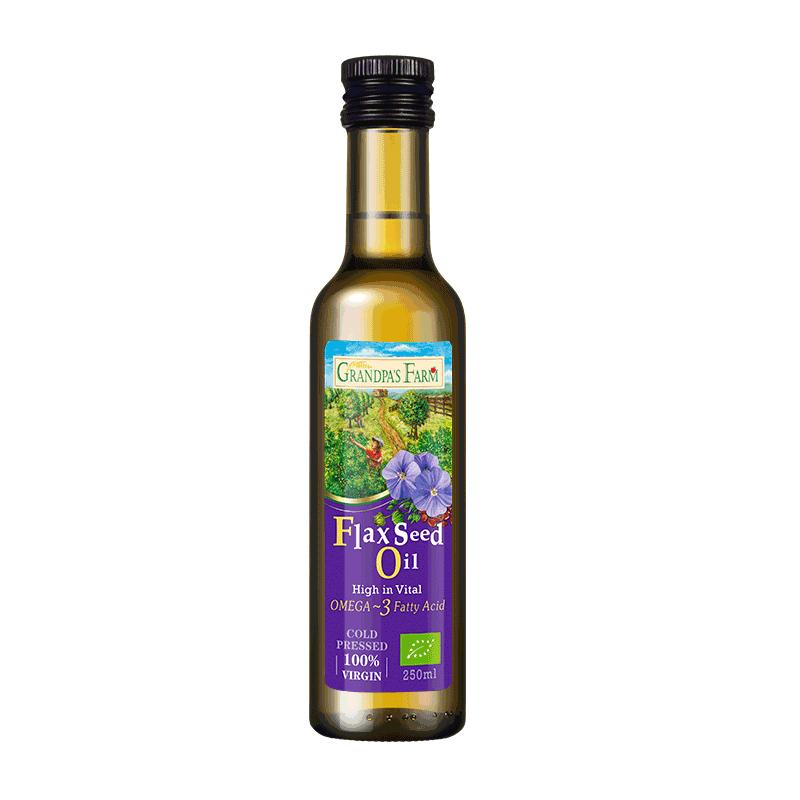 【法国进口】爷爷的农场进婴幼儿辅食亚麻籽油营养用油250ml