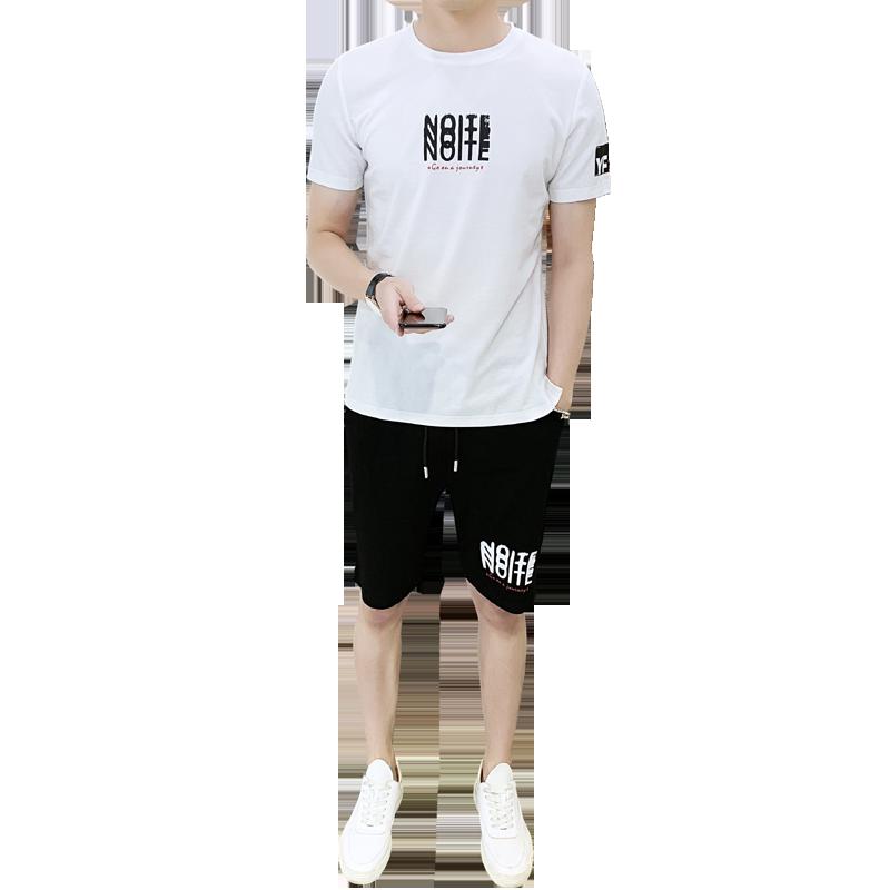 威龙世家2019男士短袖t恤圆领宽松丅爸爸夏装青年纯棉薄款衣服