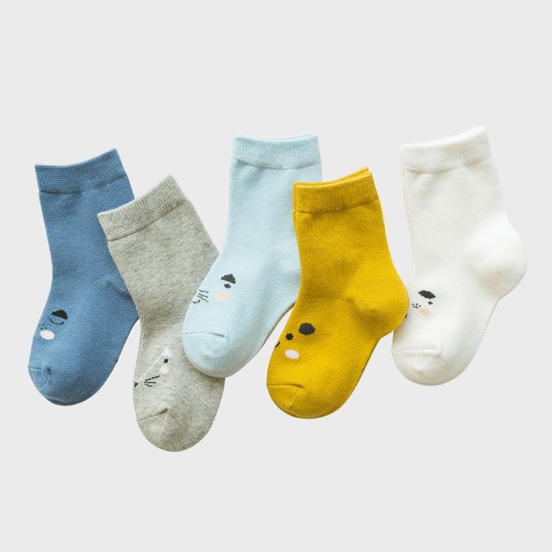 儿童袜子纯棉春秋冬季男童女童冬天婴儿宝宝男孩中大童加厚中筒袜
