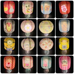 卡通投影纸灯笼水果发光礼品灯笼
