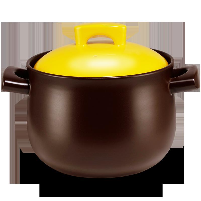 嘉炖砂锅炖锅陶瓷煲汤锅家用明火燃气煤气灶专用大小号耐高温沙锅