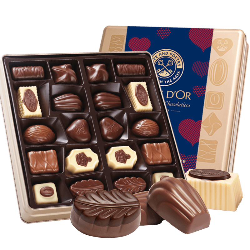 爱普诗比利时夹心巧克力进口礼盒装节日礼品创意休闲零食糖果批发