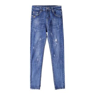 2019新款春装长裤紧身铅笔裤
