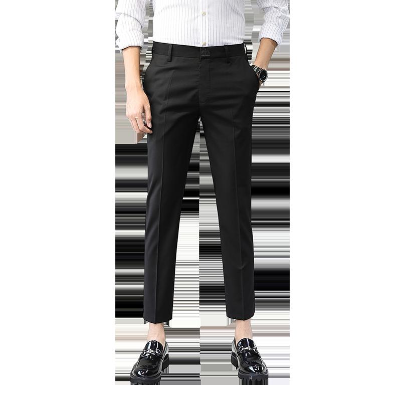 罗蒙韩版潮流九分男士修身夏季西裤