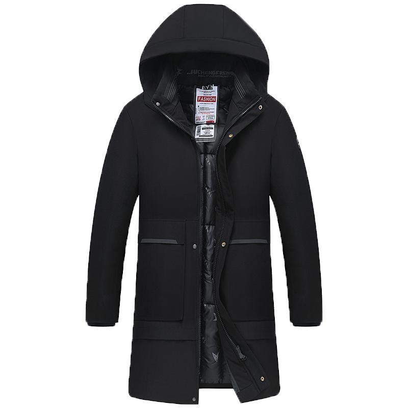 2020冬季新款中青年男士长袖棉衣棉服外套中长款棉袄爸爸装保暖潮