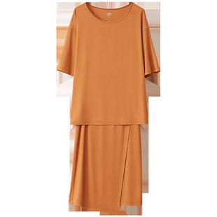 amii法式復古赫本輕熟風套裝裙子2020年春季chic兩件套夏季洋氣女
