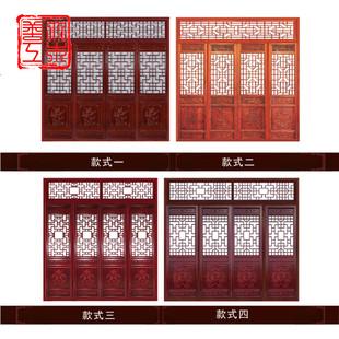 仿古門窗實木花格格柵東陽木雕玄關鏤空新中式隔斷屏風背景牆裝飾
