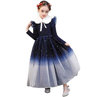 女童連衣裙秋裝2020新款兒童春秋韓版秋冬童裝洋氣公主裙女孩裙子