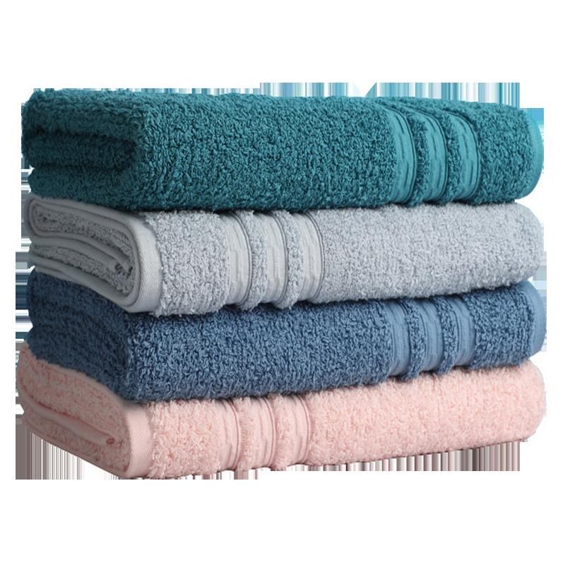 大朴浴巾素色高毛圈纯棉加大加厚家用成人吸水蓬松♀柔软亲肤浴巾