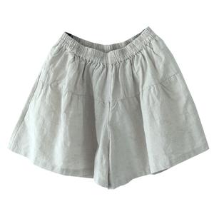首尔路上夏装新款棉麻短裤纯色裤子